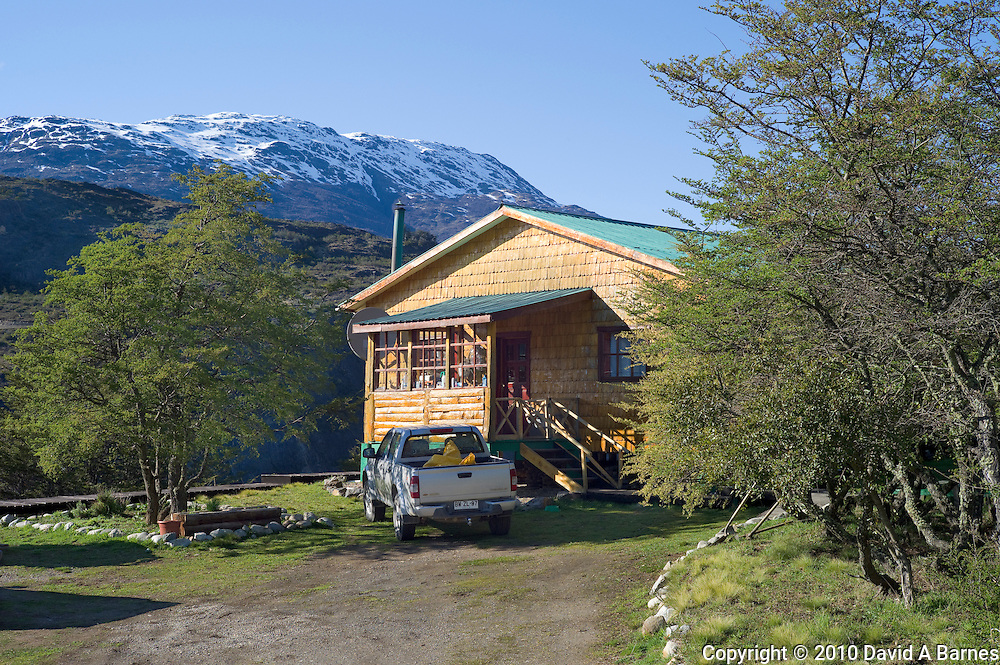 Rural house in Patagonia with Andes Mountaina, Chile