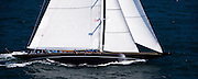 Hanuman, J Class, sailing in race 1 during the Newport Bucket Regatta.