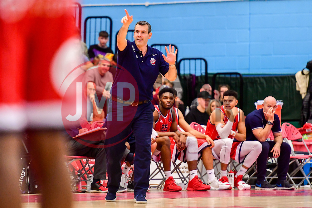 Bristol Flyers head coach, Andreas Kapoulas - Photo mandatory by-line: Ryan Hiscott/JMP - 03/11/2018 - BASKETBALL - SGS Wise Arena - Bristol, England - Bristol Flyers v Newcastle Eagles - British Basketball League Championship