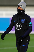 England forward Raheem Sterling during the England football team training session at St George's Park National Football Centre, Burton-Upon-Trent, United Kingdom on 13 November 2019.