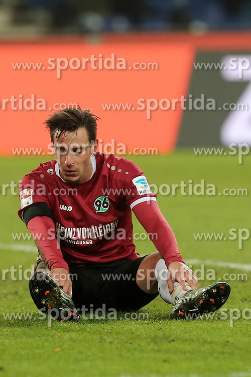 02.12.2016, HDI Arena, Hamburg, GER, 2. FBL, Hannover 96 vs 1. FC Heidenheim, 15. Runde, im Bild Edgar Prib ( Hannover 96 #7 ) // during the 2nd German Bundesliga 15th round match between Hannover 96 and 1. FC Heidenheim at the HDI Arena in Hamburg, Germany on 2016/12/02. EXPA Pictures &copy; 2016, PhotoCredit: EXPA/ Eibner-Pressefoto/ Langer<br /> <br /> *****ATTENTION - OUT of GER*****