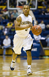 December 28, 2009; Berkeley, CA, USA;  California Golden Bears guard Jerome Randle (3) during the first half against the Utah Valley Wolverines at the Haas Pavilion.  California defeated Utah Valley 85-51.