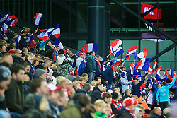 COPENHAGEN, DENMARK - Sunday, October 11, 2015: French fans during the friendly game of Denmark against France at Parken Stadium. (Pic by Lexie Lin/Propaganda)