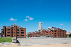 Historic red Brick Warehouses in Minato Mirai district of Yokohama Japan