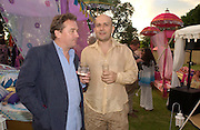 Christopher Hodsoll and Mark quinn, The  Summer party, hosted by the Serpentine Gallery and Robert Cavalli, 16 June 2004. 16 June 2004. SUPPLIED FOR ONE-TIME USE ONLY> DO NOT ARCHIVE. © Copyright Photograph by Dafydd Jones 66 Stockwell Park Rd. London SW9 0DA Tel 020 7733 0108 www.dafjones.com
