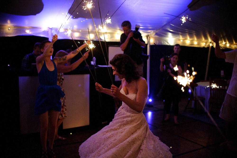 (photo by Matt Roth).Saturday, June 9, 2012..Dan Simons & Mary Spicozza's wedding ceremony at Camp Wandawega in Elkhorn Wisconsin Saturday, June 9, 2012.