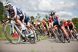 Lisa Brennauer (GER) of WNT Rotor Pro Cycling corners on Stage 2 of 2019 OVO Women's Tour, a 62.5 km road race starting and finishing in the Kent Cyclopark in Gravesend, United Kingdom on June 11, 2019. Photo by Balint Hamvas/velofocus.com