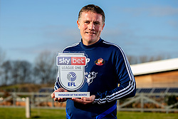 Phil Parkinson of Sunderland wins the Sky Bet League One Manager of the Month award - Mandatory by-line: Robbie Stephenson/JMP - 06/02/2020 - FOOTBALL - Academy of Light - Sunderland, England - Sky Bet Manager of the Month Award