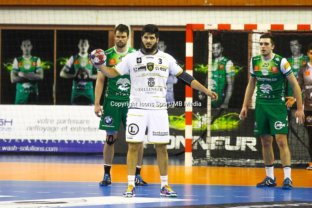 Benjamin Afgour  - 04.03.2015 - Nimes / Dunkerque - 17eme journee de Division 1<br />Photo : Andre Delon / Icon Sport