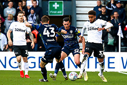 Mateusz Klich of Leeds United attempts to stop an attack by Jayden Bogle of Derby County - Mandatory by-line: Ryan Crockett/JMP - 11/05/2019 - FOOTBALL - Pride Park Stadium - Derby, England - Derby County v Leeds United - Sky Bet Championship Play-off Semi Final 1st Leg