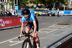 Magdeleine Vallieres Mill (CAN) at UCI Road World Championships 2019 Junior Women's TT a 13.7 km individual time trial in Harrogate, United Kingdom on September 23, 2019. Photo by Sean Robinson/velofocus.com