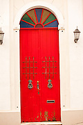 Colorful doorway of Old San Juan, Puerto Rico