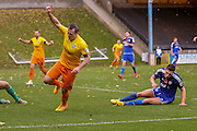 Wycombe Wanderers midfielder Garry Thompson  celebrates his goal during the The FA Cup match between FC Halifax Town and Wycombe Wanderers at the Shay, Halifax, United Kingdom on 8 November 2015. Photo by Simon Davies.