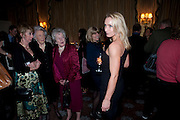 SUSAN GITTINGS; MRS. GEORGE BUDD; DR. CHRISTIAN CARRITT; RACHEL JOHNSON; LISA HILTON, , The Dowager Duchess od Devonshire and Catherine Ostler editor of the Tatler host a party to celebrate Penguin's reissue of Nancy Mitford's ' Wigs on the Green.'  The French Salon. Claridge's. London. 10 March 2010.
