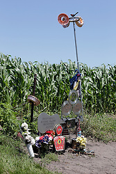 "Buddy Holly, Richie Valens, J.P. ""The Big Bopper"" Richardson and Roger Peterson crash site, Cedar Lake Iowa"