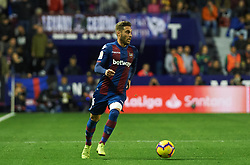 December 16, 2018 - Valencia, Valencia, Spain - Ruben Rochina of Levante UD during the La Liga match between Levante UD and FC Barcelona at Ciutat de Valencia Stadium on December 16, 2018 in Valencia, Spain. (Credit Image: © AFP7 via ZUMA Wire)