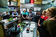 Chef Brian Doyle teaches a class on anti-inflammatory cooking in his restaurant, Café Avalaun, Warrensville Heights, Ohio.