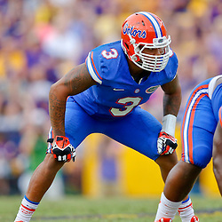Oct 12, 2013; Baton Rouge, LA, USA; Florida Gators linebacker Antonio Morrison (3) against the LSU Tigers during the second half of a game at Tiger Stadium. LSU defeated Florida 17-6. Mandatory Credit: Derick E. Hingle-USA TODAY Sports