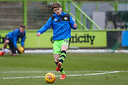 Forest Green Rovers Alex Whittle(19) warming up during the EFL Sky Bet League 2 match between Forest Green Rovers and Port Vale at the New Lawn, Forest Green, United Kingdom on 6 January 2018. Photo by Shane Healey.