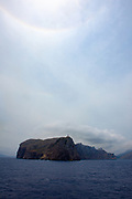 Cap Formentor, the northernmost point of Mallorca, Balearic Islands, Spain, seen from the Port de Pollenca-Barcelona ferrry.