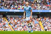 Manchester City Women forward Janine Beckie (11) reacts during the FA Women's Super League match between Manchester City Women and Manchester United Women at the Sport City Academy Stadium, Manchester, United Kingdom on 7 September 2019.