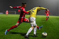 Mihael Klepac of Aluminij and Martin Milec of Maribor during football match between NK Aluminij and NK Maribor in 18th Round of Prva liga Telekom Slovenije 2019/20, on November 24, 2019 in Sportni park Aluminij, Kidricevo Slovenia. Photo by Milos Vujinovic / Sportida
