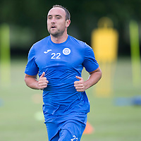 St Johnstone Pre-Season Training...07.07.14<br /> Lee Croft during a running exercise<br /> Picture by Graeme Hart.<br /> Copyright Perthshire Picture Agency<br /> Tel: 01738 623350  Mobile: 07990 594431