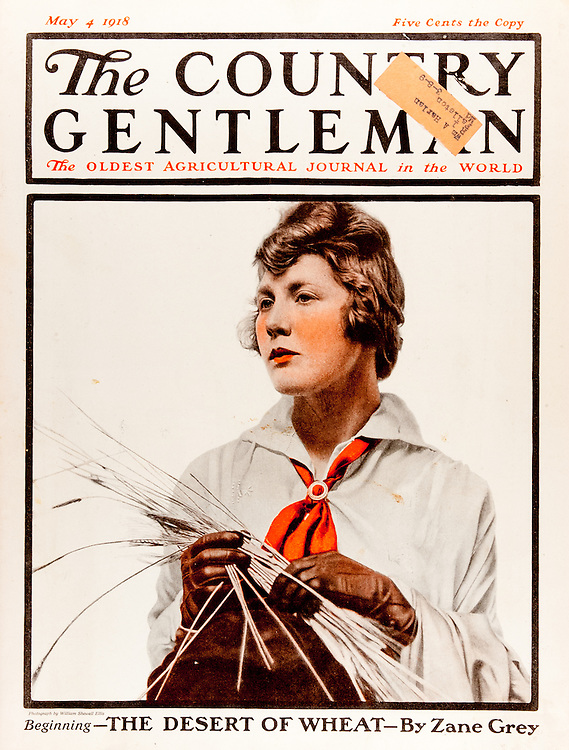 Cover of Country Gentleman agricultural magazine from the early 20th century.<br />  .