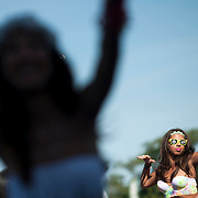 May 17, 2013 - Queens, NY :  Festivalgoers dance as the DJ Arty, not pictured, performs during the first day of the 2013 New York 'Electric Daisy Carnival,' an electronic dance music festival, at Citi Field in Queens, on Friday. CREDIT: Karsten Moran for The New York Times CREDIT: Karsten Moran for The New York Times