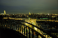 France. Paris. elevated view. The Sorbonne and the latin quarter , view from the Sorbonne church