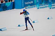 PYEONGCHANG-GUN, SOUTH KOREA - FEBRUARY 12: Martin Fourcade of France during the Mens Biathlon 12.5km Pursuit at Alpensia Biathlon Centre on February 12, 2018 in Pyeongchang-gun, South Korea. Photo by Nils Petter Nilsson/Ombrello               ***BETALBILD***