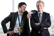 Stéphane Bilodeau, Champion olympique,  avec son père