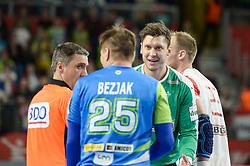 Marko Bezjak of Slovenia during handball match between National teams of Slovenia and Denmark on Day 2 in Main Round of Men's EHF EURO 2018, on January 19, 2018 in Arena Varazdin, Varazdin, Croatia. Photo by Mario Horvat / Sportida