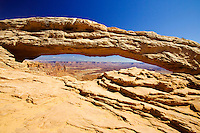View of Mesa Arch,  Canyonlands National Park, Utah