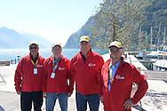 39° Giro del Trentino Melinda  1 TAPPA CRONOSQUADRE RIVA DEL GARDA ARCO 13.30KM Volontari in pausa,   21-04-2015 © foto Daniele Mosna