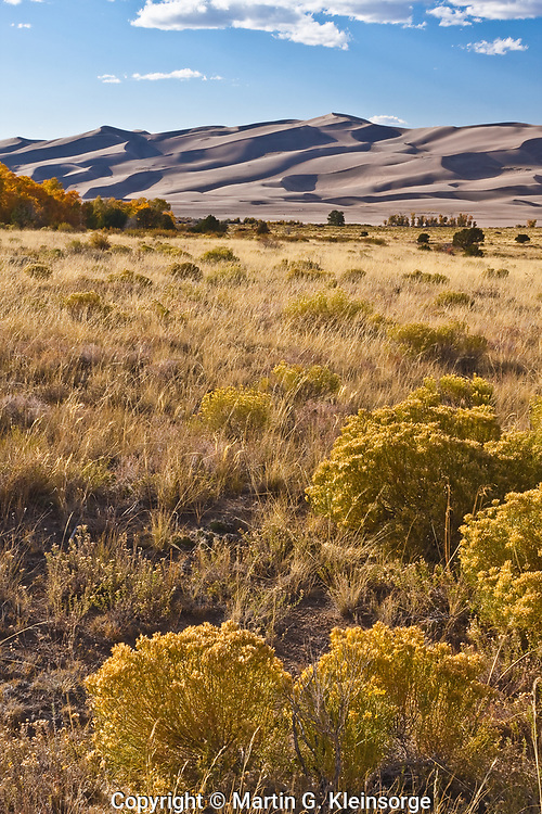Great Sand Dunes National Park during the autumn season. Colorado.