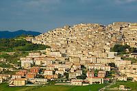 Italie, Sicile, parc naturel des Madonie, ville de Gangi // Italy, Italia, Sicily, Sicilia, Palermo district, Gangi town