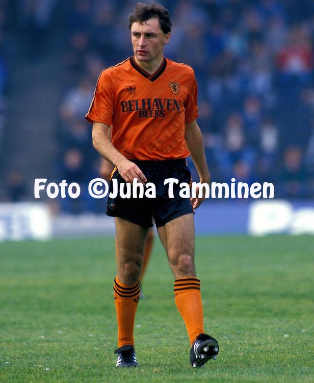 03.10.1987, Dens Park, Dundee, Scotland..Scottish League, Dundee FC v Dundee United.Maurice Malpas - Dundee United .©JUHA TAMMINEN