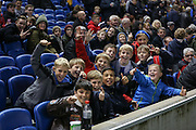 Young England fans before the UEFA European Championship Under 21 2017 Qualifier match between England and Switzerland at the American Express Community Stadium, Brighton and Hove, England on 16 November 2015. Photo by Phil Duncan.