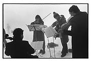 Not The Amadeaus string quartet. Dangerous Sports Club Ski race, St. Moritz, March 1983.