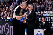 DESCRIZIONE : Bologna Lega A 2014-15 Granarolo Bologna EA7 Emporio Armani Milano<br /> GIOCATORE : Giorgio Valli Luigi Lamonica arbitro<br /> CATEGORIA : arbitro fairplay allenatore delusione<br /> SQUADRA : Granarolo Bologna arbitro<br /> EVENTO : Campionato Lega A 2014-15<br /> GARA : Granarolo Bologna EA7 Emporio Armani Milano<br /> DATA : 22/05/2015<br /> SPORT : Pallacanestro <br /> AUTORE : Agenzia Ciamillo-Castoria/M.Marchi<br /> Galleria : Lega Basket A 2014-2015 <br /> Fotonotizia : Bologna Lega A 2014-15 Granarolo Bologna EA7 Emporio Armani Milano