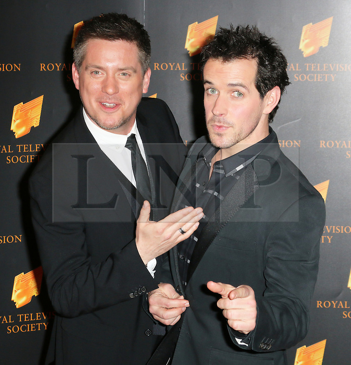 © Licensed to London News Pictures. 18/03/2014, UK. Dick and Dom, The Royal Television Society Programme Awards, Grosvenor House Hotel, London UK, 18 March 2014. Photo credit : Richard Goldschmidt/Piqtured/LNP