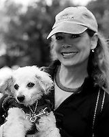 Caryn Rosenthal and Her Dog Jax at My Dog Loves Central Park 2014