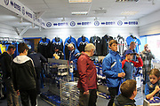 Supporters in Rochdale Club-Shop during the EFL Sky Bet League 1 match between Rochdale and Gillingham at Spotland, Rochdale, England on 23 September 2017. Photo by Daniel Youngs.
