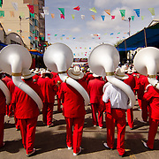 Musicians and tubas at Carnival in Oruro.