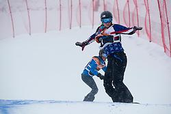 HUCKABY Brenna, HERNANDEZ-CERVELLON Cecile, Snowboarder Cross, 2015 IPC Snowboarding World Championships, La Molina, Spain