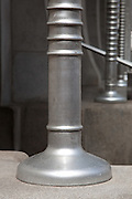 Detail of aluminium column at entrance. Post Office Savings Bank, Vienna, Austria 1904-12 Architect: Otto Wagner
