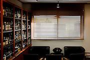 Yamazaki, November 22 2011 - Suntory whisky distillery in Yamazaki, Japan. A room for tasting whiskies from all over the world.