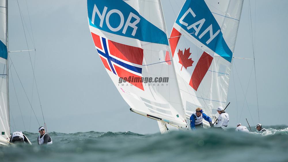 2012 Olympic Games London / Weymouth<br /> Melleby Eivind, PEDERSEN Petter Morland, (NOR, Star)<br /> Clarke Richard, Bjorn Tyler, (CAN, Star)