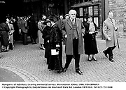 Marquess  of Salisbury. Leaving memorial service. Westminter Abbey. 1988. Film 8896815<br />© Copyright Photograph by Dafydd Jones<br />66 Stockwell Park Rd. London SW9 0DA<br />Tel 0171 733 0108